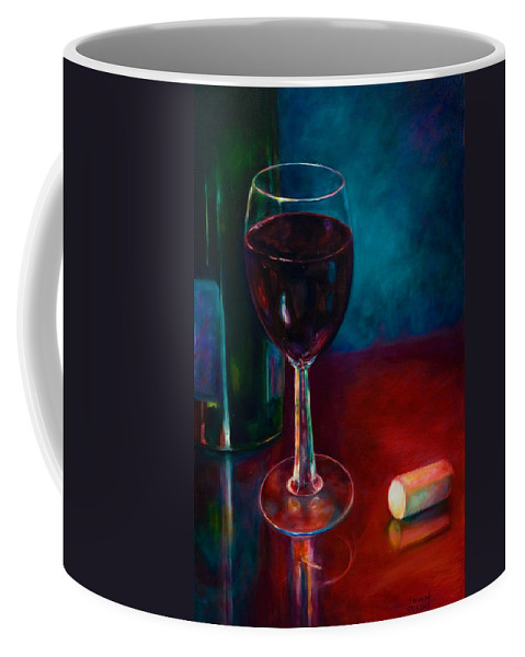 Wine Bottle Coffee Mug featuring the painting Zinfandel by Shannon Grissom