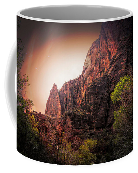 Zion National Park Coffee Mug featuring the photograph Zion National Park Usa by Chuck Kuhn