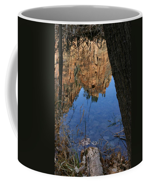 Zion Coffee Mug featuring the photograph Zion Reflections by Nelson Strong