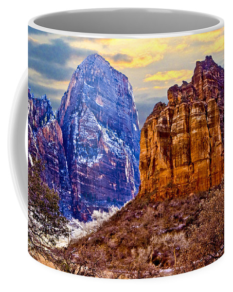 Zion Coffee Mug featuring the photograph Zion View by Ches Black