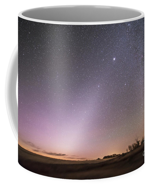 Comet Coffee Mug featuring the photograph Zodiacal Light In Dawn Sky, Alberta by Alan Dyer