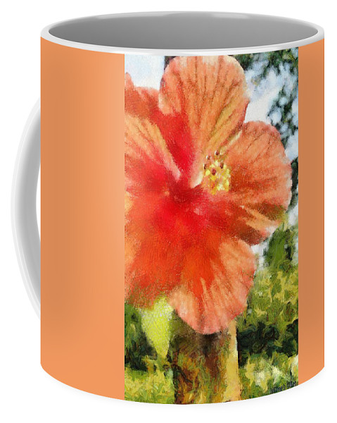 Zoo Coffee Mug featuring the painting Zoo Flower by Jeffrey Kolker