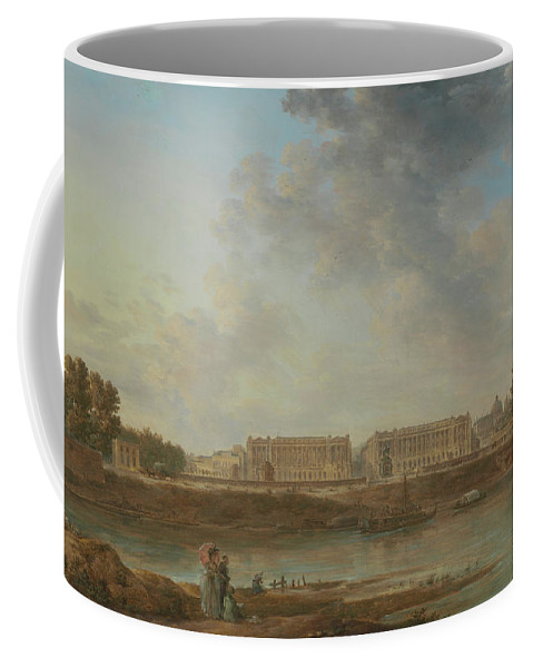 Alexandre-jean Noël Coffee Mug featuring the painting A View Of Place Louis Xv by Alexandre-Jean Noel