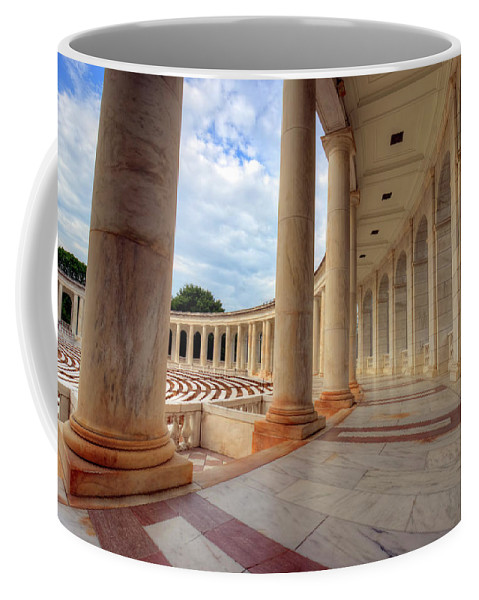 Craig Fildes Photography Coffee Mug featuring the photograph Arlington National Cemetery Memorial Amphitheater by Craig Fildes