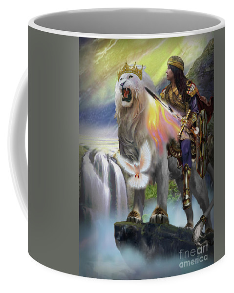 Battlecry Coffee Mug featuring the painting Battlecry by Todd L Thomas