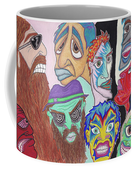 Coffee Mug featuring the painting Dealer's Dilemma by ArtSick Productions