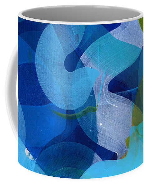 Abstract Coffee Mug featuring the painting Don't Overthink by Claire Desjardins
