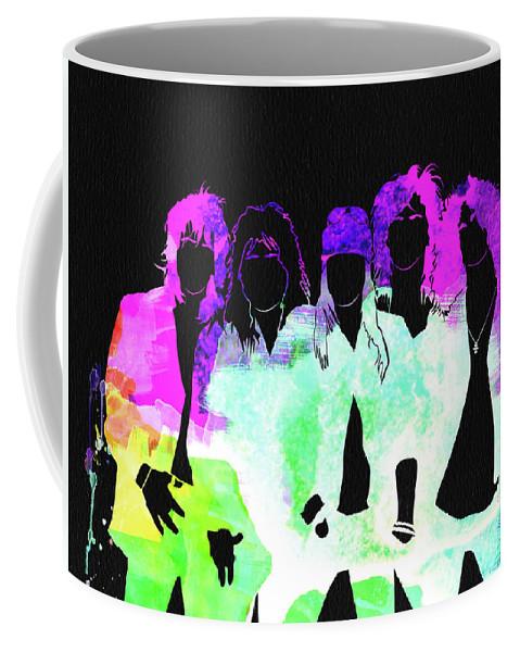 Guns N' Roses Coffee Mug featuring the mixed media Guns N' Roses Watercolor by Naxart Studio