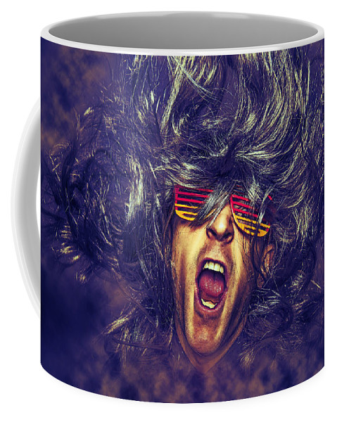 Abstract Coffee Mug featuring the photograph Heavy Metal Rock Star by Robert Kinser