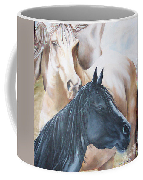 Knowing God's Voice Coffee Mug featuring the painting Knowing God's Voice by Kimberly Madson