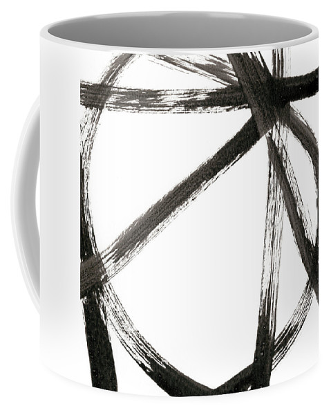 Abstract Coffee Mug featuring the painting Linear Expression V by J. Holland