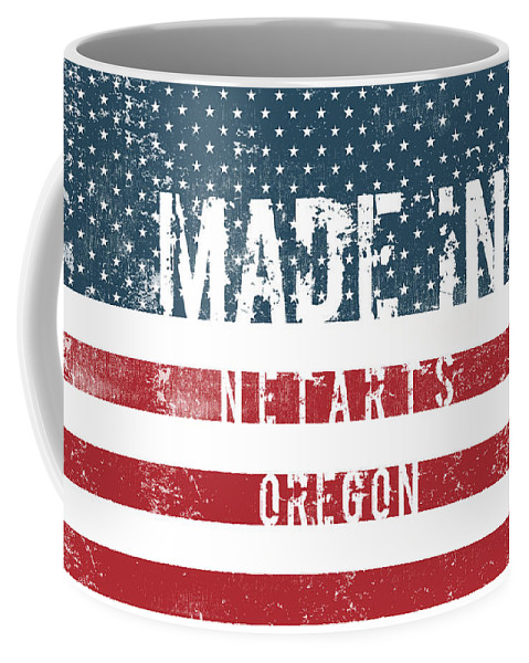 Netarts Coffee Mug featuring the digital art Made In Netarts, Oregon by Tinto Designs