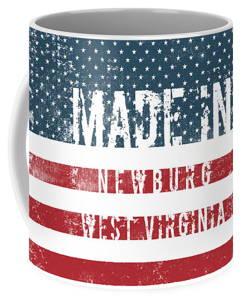 Newburg Coffee Mug featuring the digital art Made In Newburg, West Virginia by Tinto Designs
