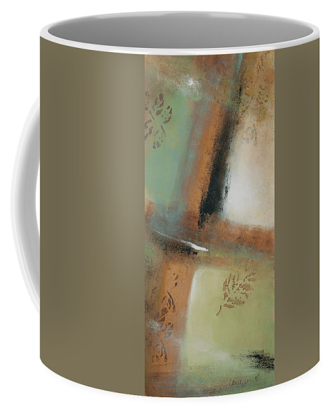 Abstract Coffee Mug featuring the painting Misty Morning I by Lanie Loreth