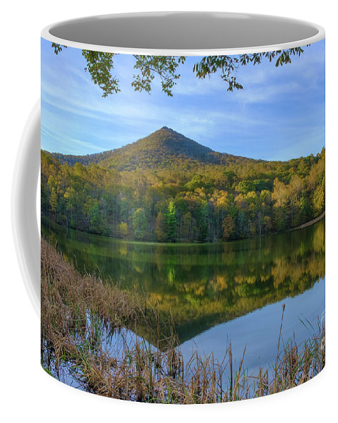Sharp Top Mountain Coffee Mug featuring the photograph Morning Sun by Ava Reaves