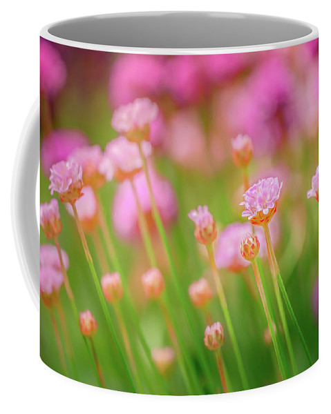 Sea Thrift Coffee Mug featuring the photograph Sea Thrift by S A Littau
