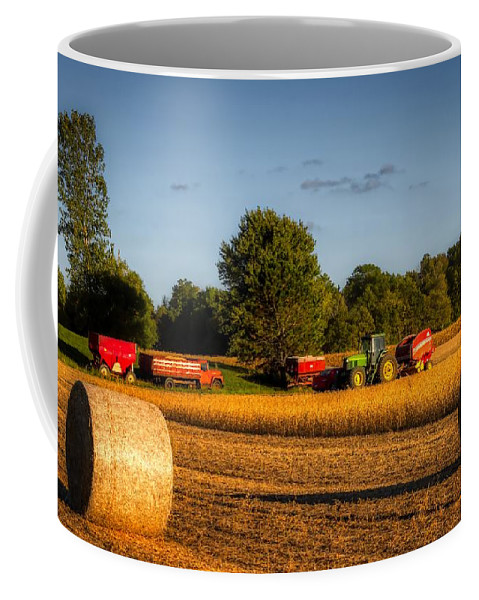 Soybeans Coffee Mug featuring the photograph Soybean Harvest by Mountain Dreams