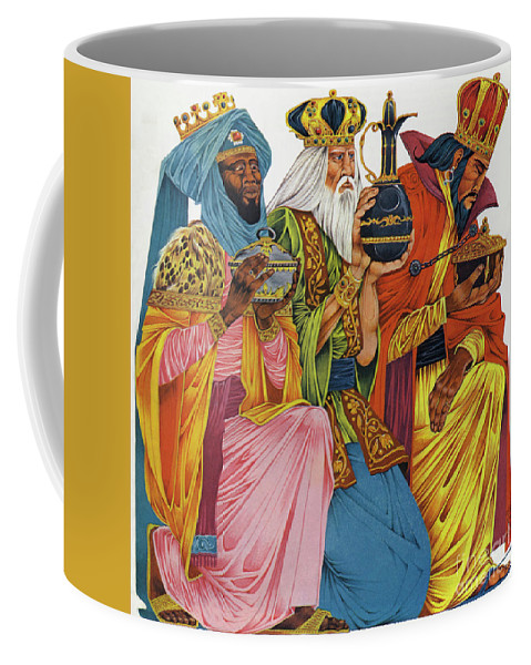 History; Bible; Birth; Historical; Nativity; Jesus Christ; Homage; Gifts; Saviour; The Three Wise Men; Presents; The Three Kings Coffee Mug featuring the painting The Three Kings by Richard Hook