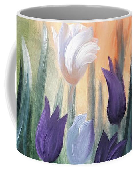 Tulip Coffee Mug featuring the painting Tulips by Gina De Gorna