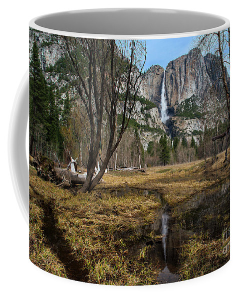 Upper And Lower Yosemite Falls Coffee Mug featuring the photograph Upper And Lower Yosemite Falls by Yefim Bam