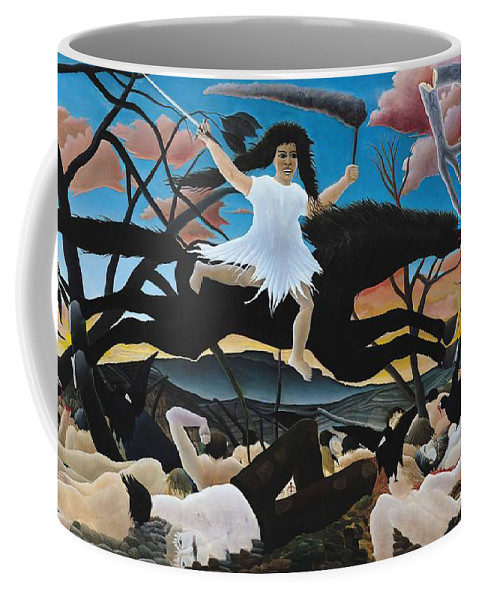 Henri Rousseau Coffee Mug featuring the painting War Or The Ride Of Discord by Henri Rousseau
