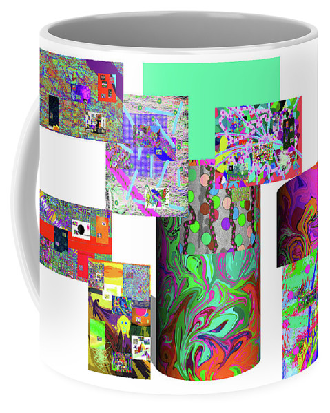 Walter Paul Bebirian Coffee Mug featuring the digital art 10-21-2015cabcdefghijklmnopqrtuvwxyzabcdef by Walter Paul Bebirian