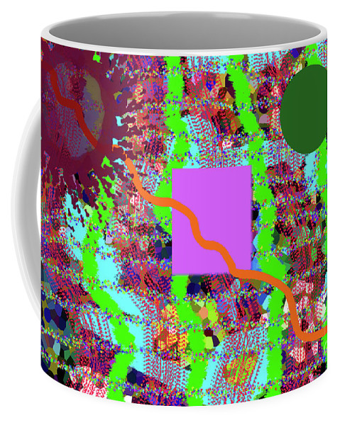 Walter Paul Bebirian: The Bebirian Art Collection Coffee Mug featuring the digital art 12-7-2011mabcdefghijklmn by Walter Paul Bebirian