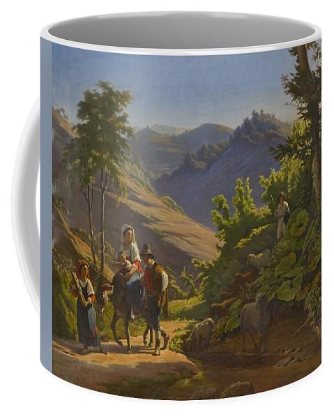 Johan Blackstadius (1816-1898) Coffee Mug featuring the painting Landscape by MotionAge Designs