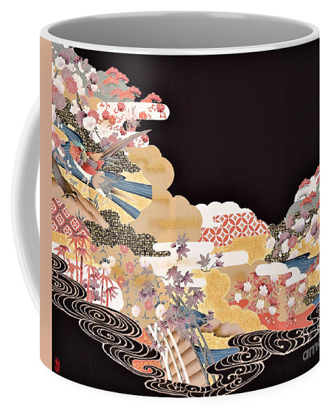 Coffee Mug featuring the digital art Spirit of Japan T65 by Miho Kanamori