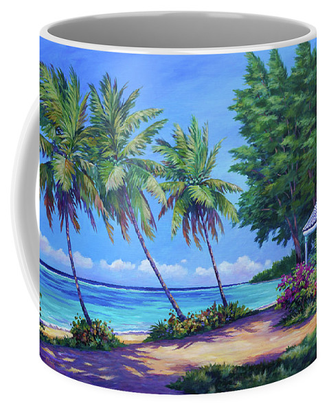 Art Coffee Mug featuring the painting At The Island's End by John Clark