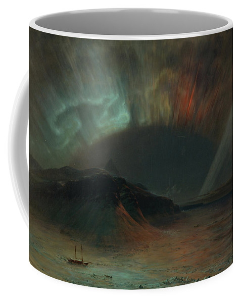 Frederic Edwin Church Coffee Mug featuring the painting Aurora Borealis by Frederic Edwin Church