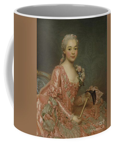 Girl Coffee Mug featuring the painting Baroness De Neubourg-cromiere by Alexander Roslin