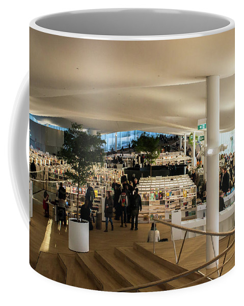 Helsinki Central Library Coffee Mug featuring the photograph Helsinki Central Library by Jarmo Honkanen