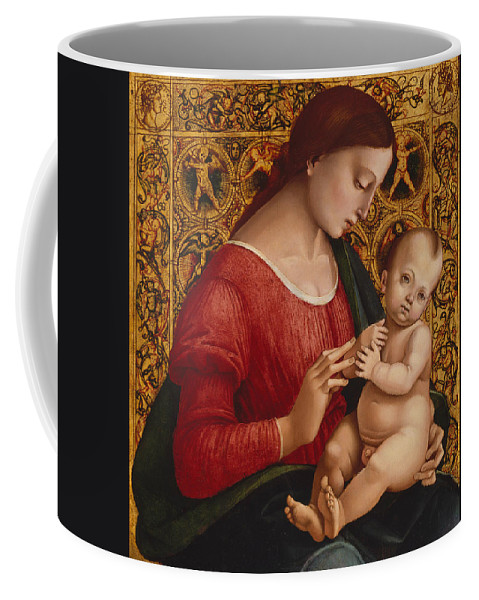 16th Century Art Coffee Mug featuring the painting Madonna And Child by Luca Signorelli