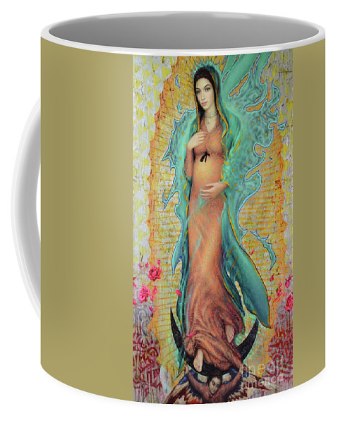 Mother Coffee Mug featuring the painting Our Lady of Guadalupe by Smith Catholic Art