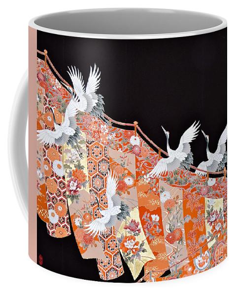 Coffee Mug featuring the digital art Spirit of Japan T42 by Miho Kanamori