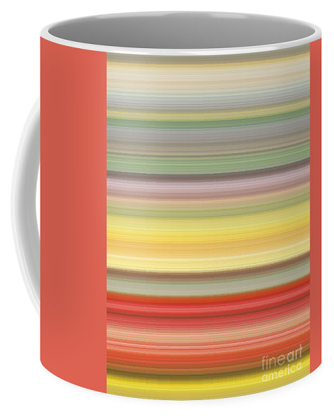 Colours Coffee Mug featuring the digital art Number Forty Three, 2017 by Alex Caminker