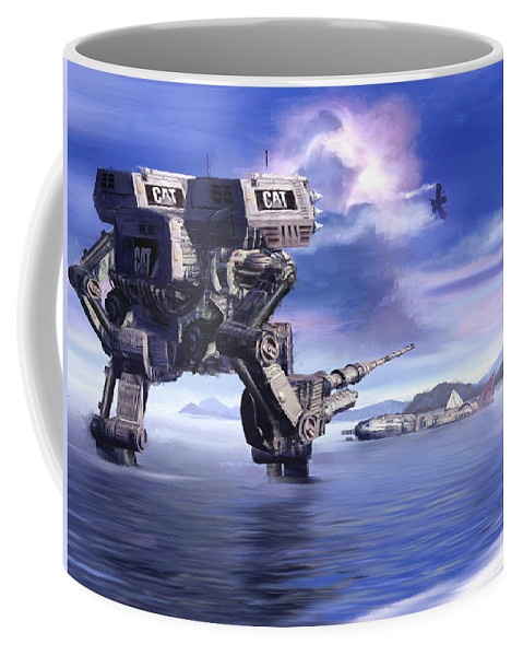 Science Fiction Coffee Mug featuring the mixed media 501st Mech Defender by Curtiss Shaffer
