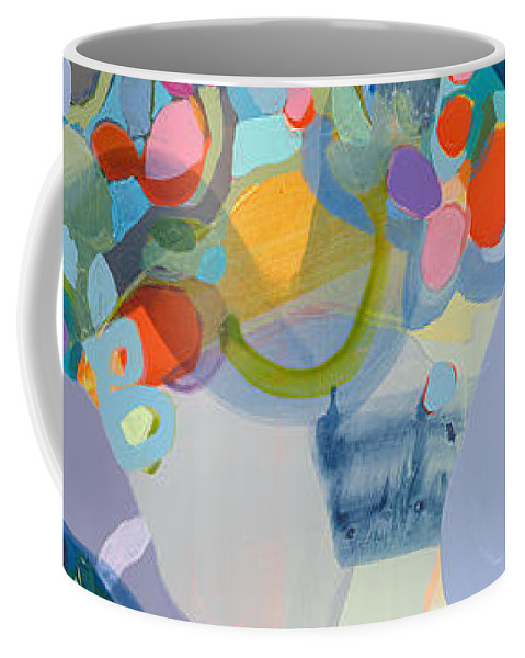 Abstract Coffee Mug featuring the painting 70 Degrees by Claire Desjardins
