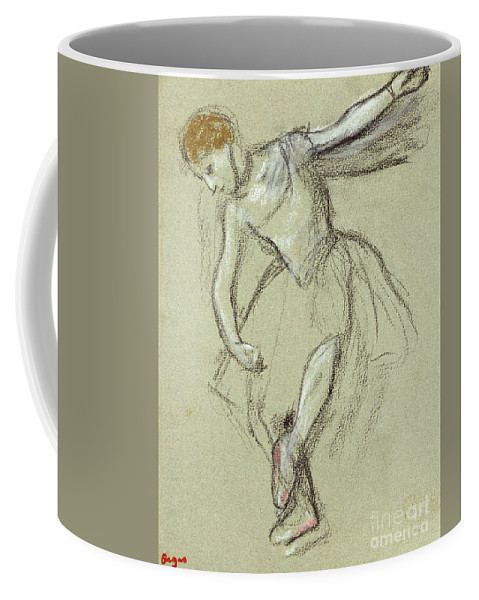 A Dancer In Profile Coffee Mug featuring the pastel A Dancer In Profile by Edgar Degas