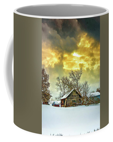 Winter Coffee Mug featuring the photograph A Winter Eve by Steve Harrington