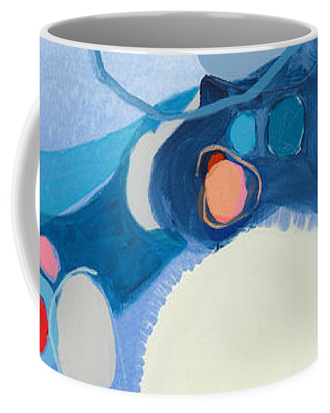 Abstract Coffee Mug featuring the painting A Woman Named Emory by Claire Desjardins