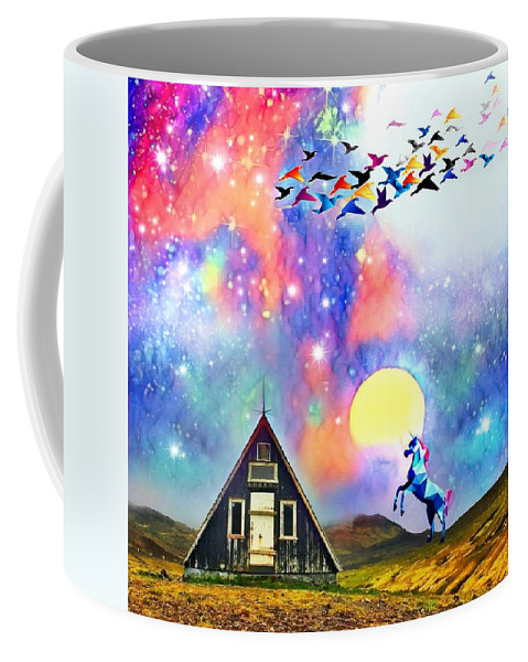 Coffee Mug featuring the digital art Abode Of The Artificial-dreamer Zero by Sureyya Dipsar