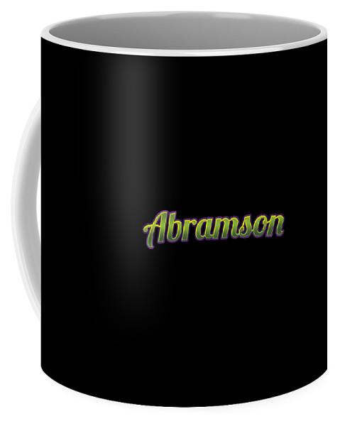 Abramson Coffee Mug featuring the digital art Abramson #abramson by TintoDesigns