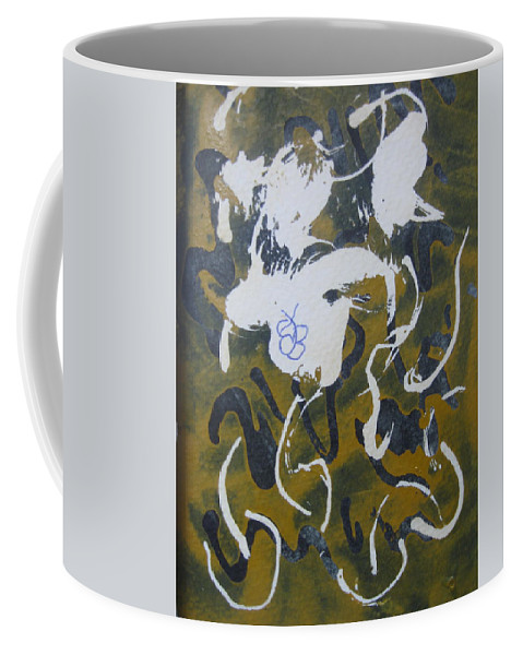Browns Coffee Mug featuring the drawing Abstract Human Figure by AJ Brown
