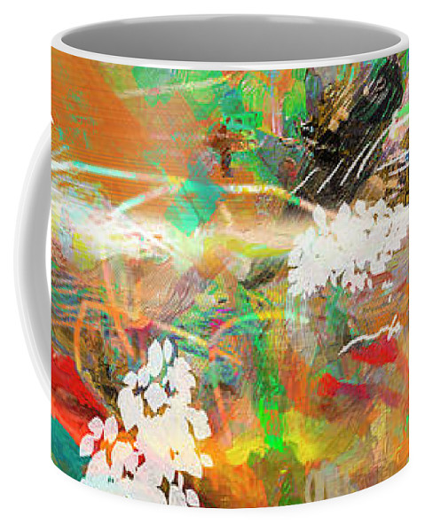 Abstract Coffee Mug featuring the mixed media Abstract Show 1 by Ginette Callaway