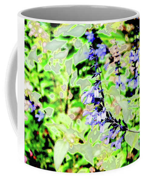 Abstract Coffee Mug featuring the photograph Abstract Summer Garden by Alida M Haslett