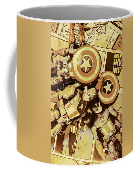 Toy Coffee Mug featuring the photograph Action Figure Comic Strip by Jorgo Photography - Wall Art Gallery