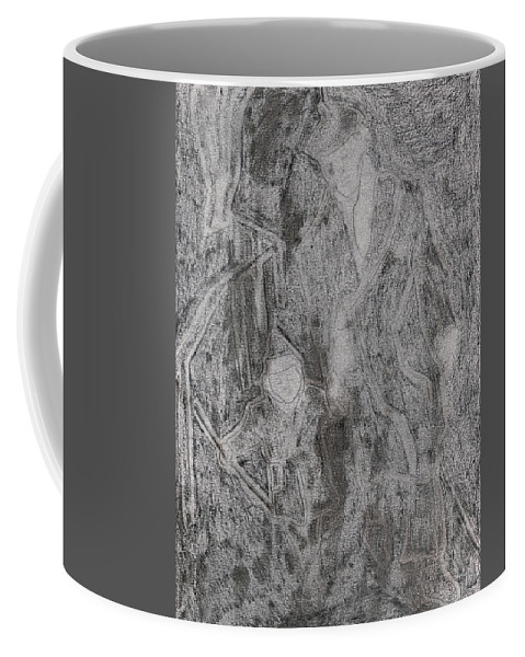 Drawing Coffee Mug featuring the drawing After Billy Childish Pencil Drawing 3 by Artist Dot