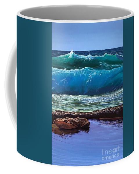 Puerto Vallarta Coffee Mug featuring the painting Aguas de Marco by Hunter Jay